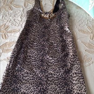 Anthropologie Bailey 44 sequin leopard shift dress
